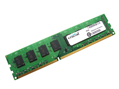 Crucial CT51264BD1339 4GB PC3-10600U 1333MHz 2Rx8 240-Pin Desktop DDR3 DIMM, RAM Memory, Full Technical Specs and Reviews