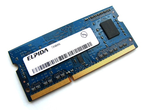 Elpida EBJ20UF8BDU0-GN-F 2GB PC3-12800S-11-10-B2 1Rx8 1600MHz 204pin Laptop / Notebook SODIMM CL11 1.5V Non-ECC DDR3 Memory Full Technical Specs and Reviews